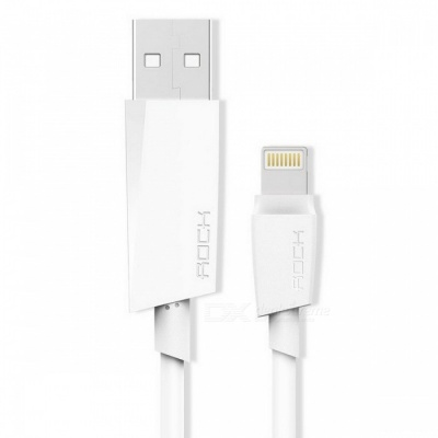 ROCK MFI Lightning to USB 2.1A Fast Charging Cable - White (1m)