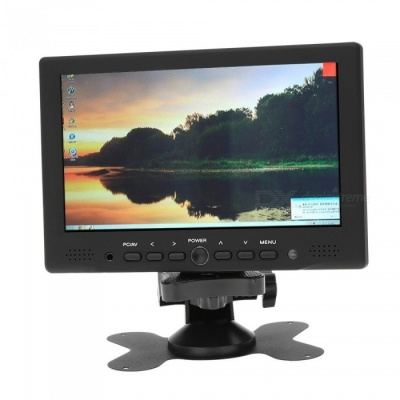 "7"" TFT LED HD Color Monitor w/ AV HD VGA Input (EU Plug)"