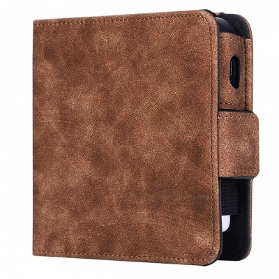 KELIMA Retro Style Leather Electronic Cigarette Case - Brown