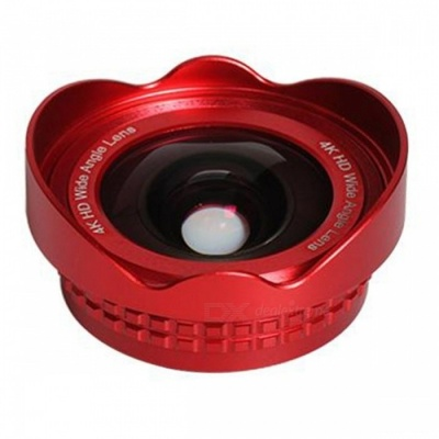 SPO 0.45X Wide-Angle 15X Zoom Mobile Phone Camera Lens - Red