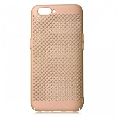 Protective Breathable Mesh Plastic Case for OPPO R11 - Champagne Gold