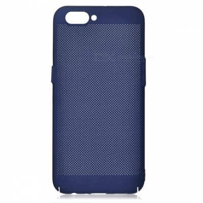 Protective Breathable Mesh Plastic Case for OPPO R11 - Blue