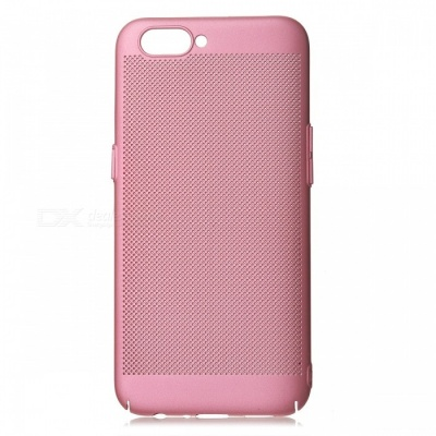 Protective Breathable Mesh Plastic Case for OPPO R11 - Pink