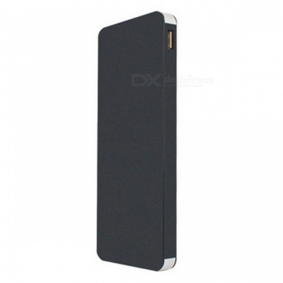 Ultra Thin 12000mAh Dual USB Power Bank - Black