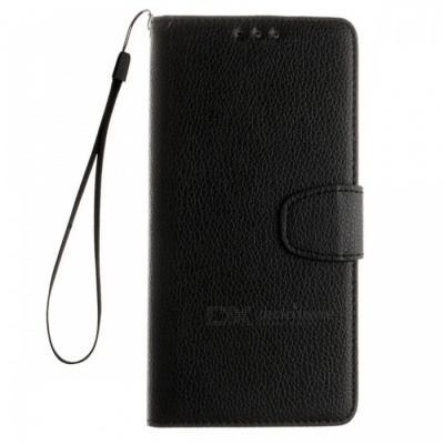 Dayspirit Lichee Pattern Leather Case for Huawei Y6II Compact - Black