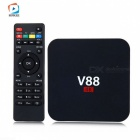 V88 Quad-Core 1GB 8GB Android 6.0 HD Smart TV Box - Black (EU Plug)