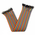 DIY Male to Female DuPont Adapter Cables - Multicolor (30cm, 40PCS)
