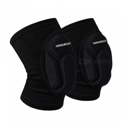 WOSAWE BC317 Knee Pad Guard - Black (One Size)