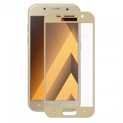 Hat-Prince Full Coverage Tempered Protector for Galaxy A5 2017 -Golden