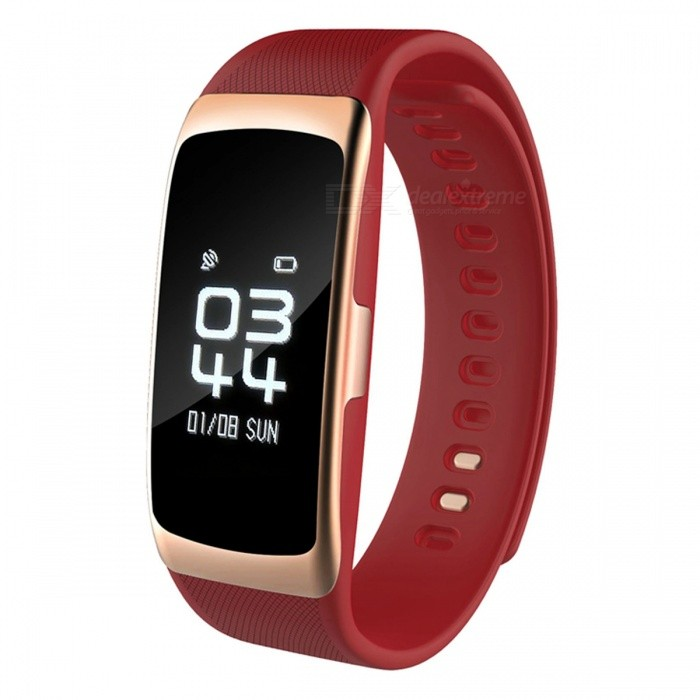 S68 Smart Sports Bracelet Wristband Heart Rate Monitoring - Red
