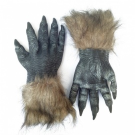 Halloween Simulation Wolf Claw Gloves - Black