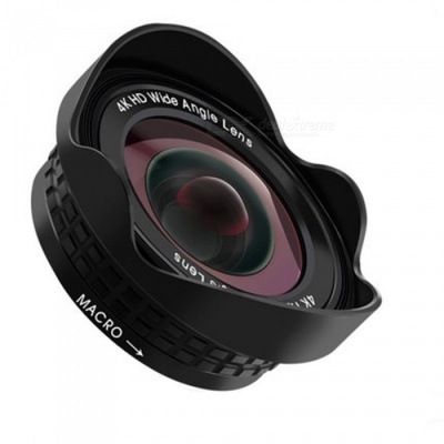 SPO 0.45X Wide-Angle 15X Zoom Mobile Phone Camera Lens - Black