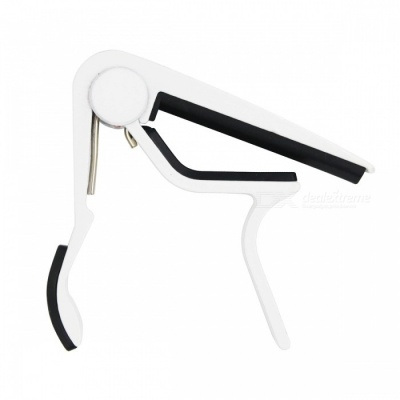 Aluminum Alloy Clip-On Quick Release Capo for Acoustic Guitar - White