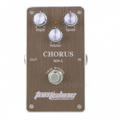 Low Noise Guitar Electric Effect Chorus Pedal - Brown