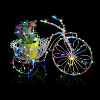 SZFC 10m 100-LED Waterproof Silver Wire LED String Light - RGB