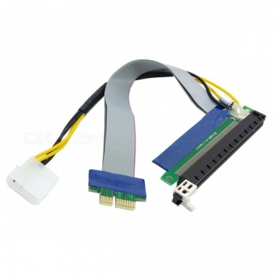 CY EP-028 PCI-E Express 1x to 16x Extension Flex Cable Extender