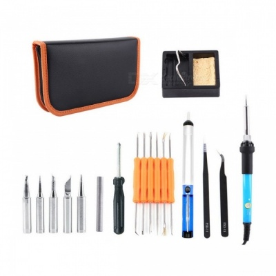 14-in-1 60W 220V Electric Welding Soldering Iron Tool Kit (EU Plug)