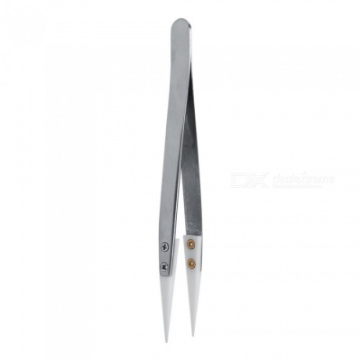 Durable Stainless Steel Non-Conductive Ceramic Pointed Tip Tweezers