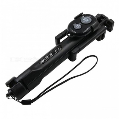 Foldable Portable Bluetooth Selfie Stick Tripod - Black