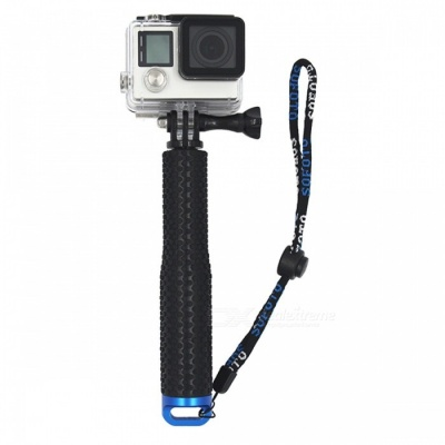 Aluminum Extendable Selfie Stick Monopod for GoPro - Black