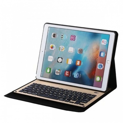 "Slim Bluetooth Keyboard Folio Case with Stand for IPAD Pro12.9"" - Gold"