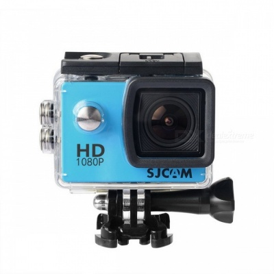 "Original SJCAM SJ4000 1080P HD 2.0"" Sports Action Camera - Blue"