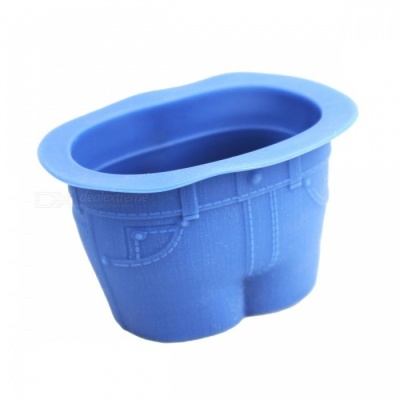 Baking Tool Jeans Shape Silica Gel Cake Mould Cup - Blue