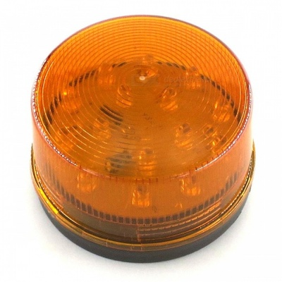 ZHAOYAO DC 12V Round Shape Safety Warning Light - Orange