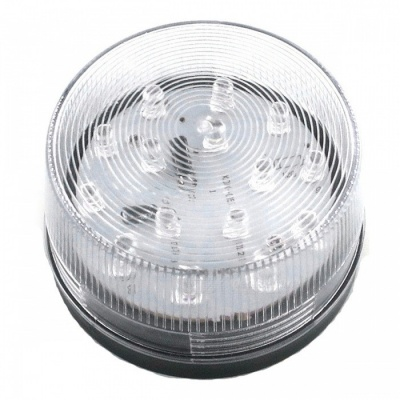 ZHAOYAO DC 12V Round Shape Safety Warning Light - White