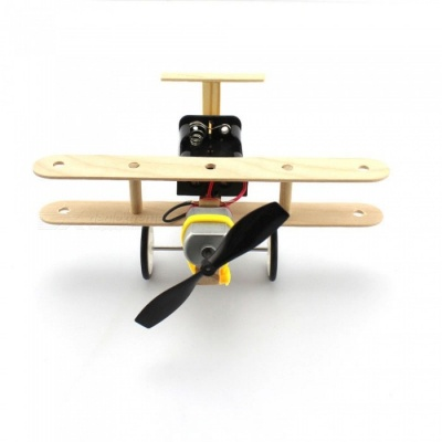 DIY Manual Assembly Wind Ground Aircraft Model Educational Toy