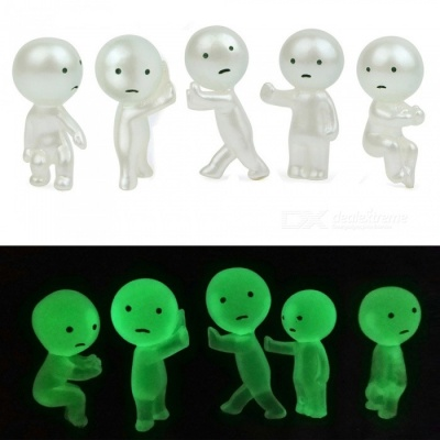5Pcs Mini Ghost Princess Luminous Doll Toys for DIY Garden Decoration