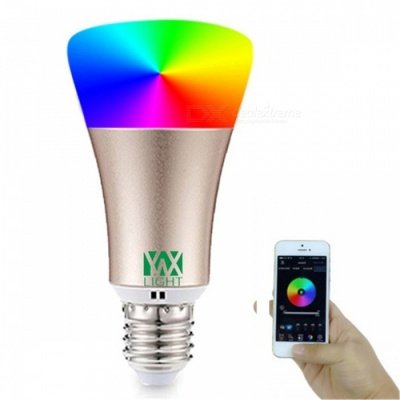 YWXLight E27 RGB Smart Bluetooth Music LED Bulb Light - Golden