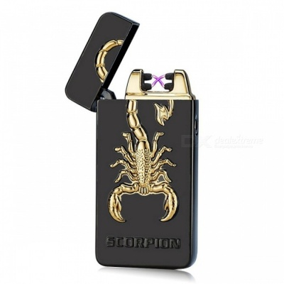 ZHAOYAO Scorpion Style Double Arc USB Rechargeable Cigarette Lighter