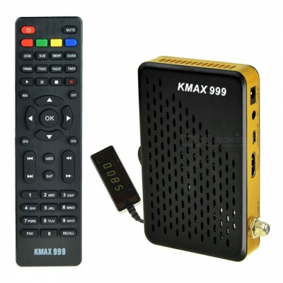 MINI IPTV DVB-S2 1080P KMAX 999 Satellite TV Box with Wi-Fi