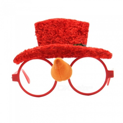 Christmas Party Favor Cute Eye Glasses Frame for Kids Adluts - Red