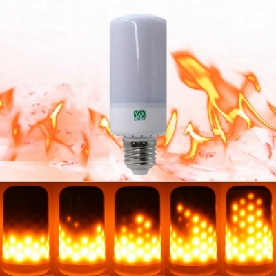 YWXLight E27 99-LED Bulb Flame Fire Effect Lamp Novelty for Halloween