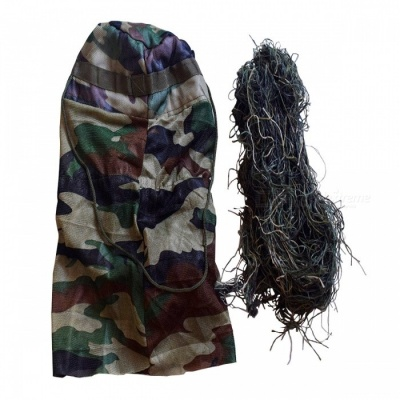 Grass Type Hood Cap and Camouflage Rope for Tactical Hunting