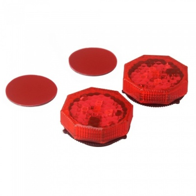 ZIQIAO 2PCS Car Door Flashing Strobe LED Warning Light - Red Light