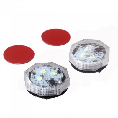ZIQIAO 2PCS Car Door Flashing Strobe LED Warning Light -Ice Blue Light