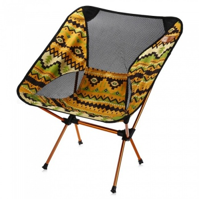 Multifunctional Folding Portable Aluminum Fishing Chair - Yellow