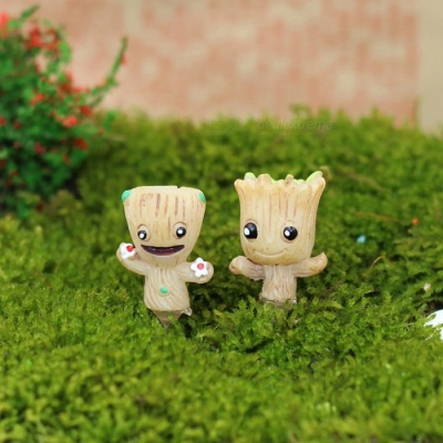 Mini Grout Tree Silky Landscape Gardening Dolls (2 PCS)