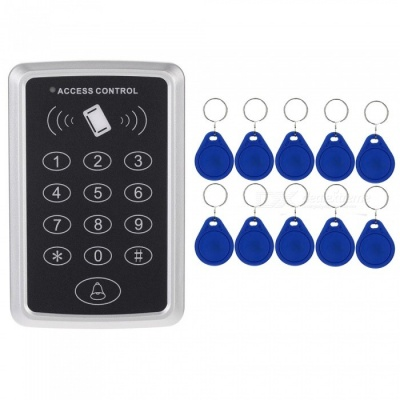 125kHz Proximity RFID Access Control System Keypad with 10Pcs ID Cards