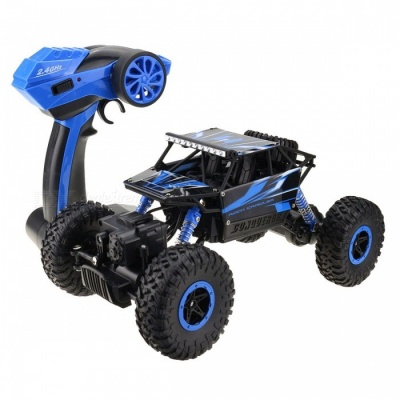 RC Car 4WD 2.4GHz Rock Crawlers Rally Climbing Car - Blue