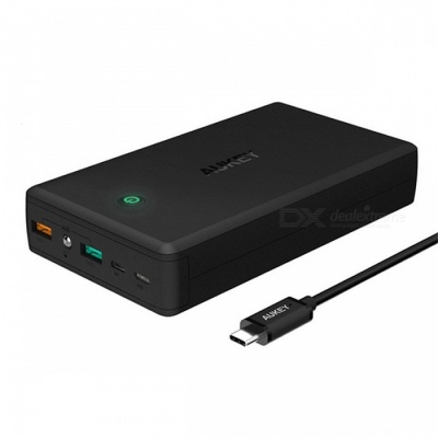 AUKEY PB-T11 30000mAh Power Bank Quick Charge 3.0 Dual USB - Black