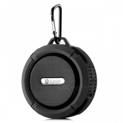 C6 Portable Waterproof Outdoor Wireless Bluetooth Speaker - Black