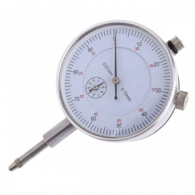 Gauge 0-10mm Meter Dial Indicator with Precise 0.01 Resolution