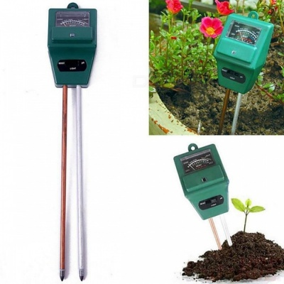 3-in-1 PH Tester Soil Water Moisture Light Analized Test Meter