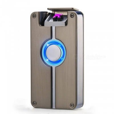 ZHAOYAO Creative Double Arc USB Charging Windproof Lighter - Silver