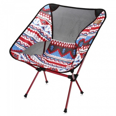 Multifunctional Aluminum Folding Portable Fishing Chair - Red