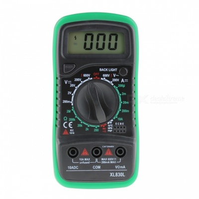XL830L Digital LCD Multimeter Voltmeter Ammeter Tester - Green